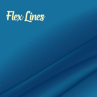 Fondo de líneas onduladas azules