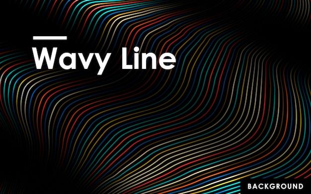 Fondo de líneas onduladas de color abstracto