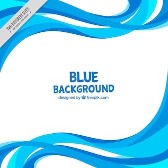 Fondo con líneas onduladas en tonos azules