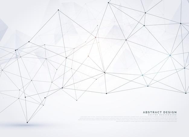 Fondo de líneas y puntos con formas geométricas