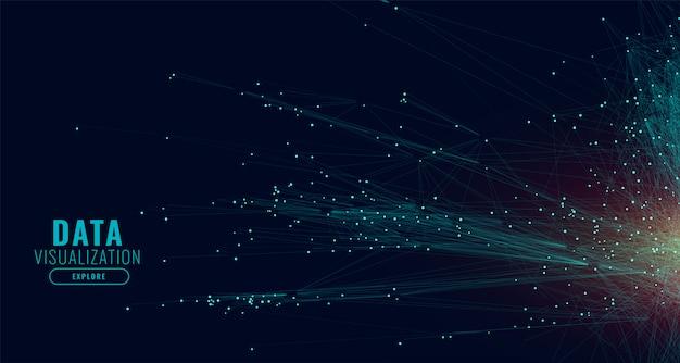 Fondo de líneas de red de tecnología de datos