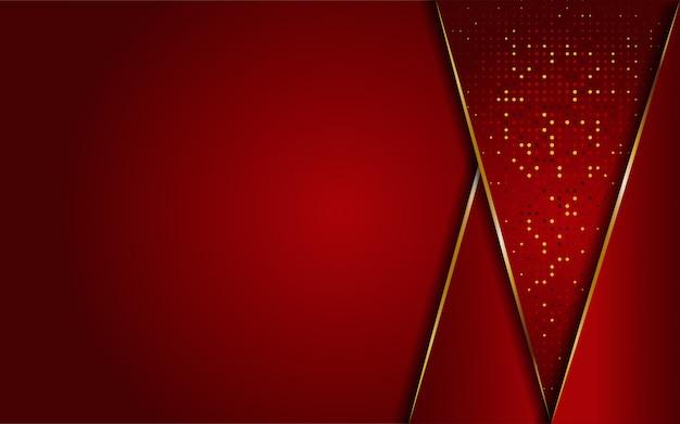 Fondo de líneas rojas y doradas abstractas lujosas modernas. elegante fondo moderno.