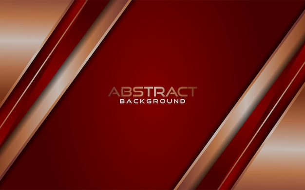 Fondo de líneas rojas y doradas abstractas lujosas modernas