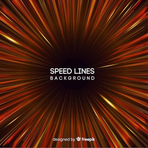 Fondo de líneas de velocidad en tonos rojos