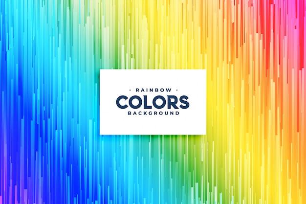 Fondo de líneas verticales de colores abstractos del arco iris