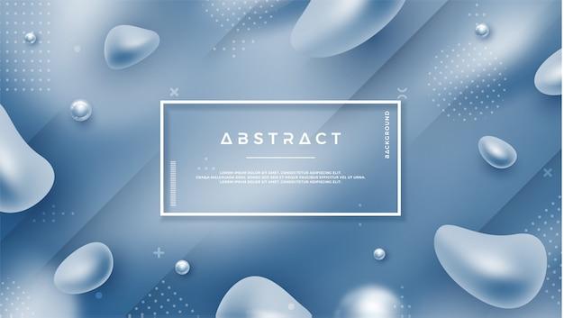 Fondo líquido abstracto azul.