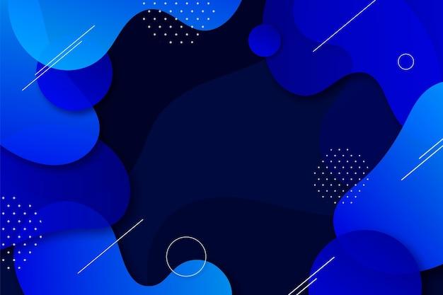Fondo líquido azul abstracto