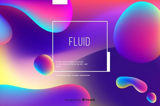 Fondo líquido en colores degradados