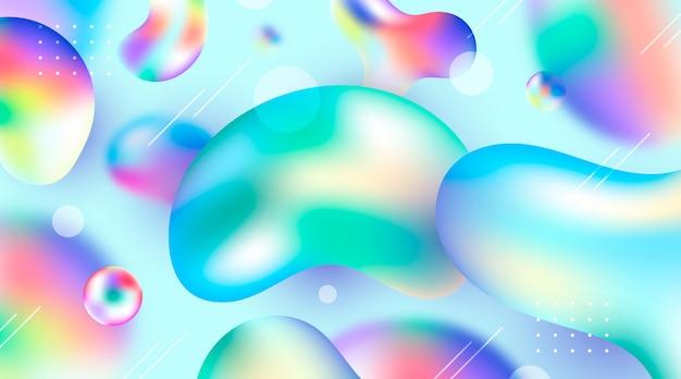 Fondo líquido colorido