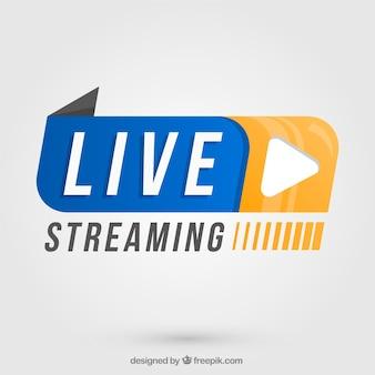 Fondo de live streaming