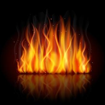 Fondo de llama ardiente