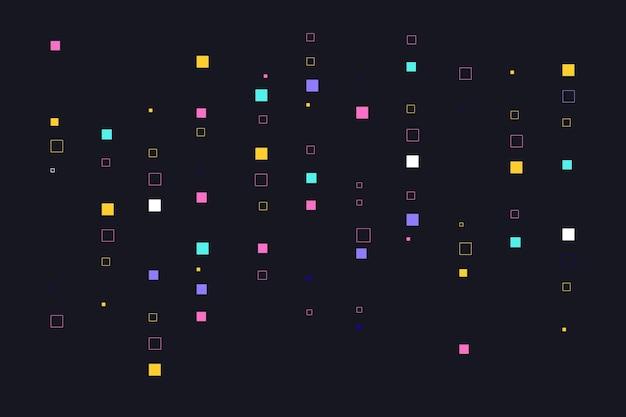 Fondo de lluvia de píxeles abstractos coloridos