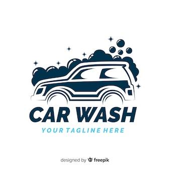 Fondo logo lavadero de coches dibujado a mano