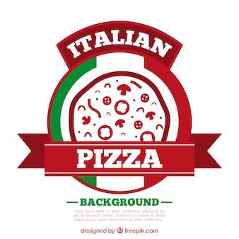 Fondo de logo de pizza