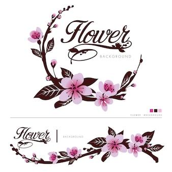 Fondo de logo de vector de flor
