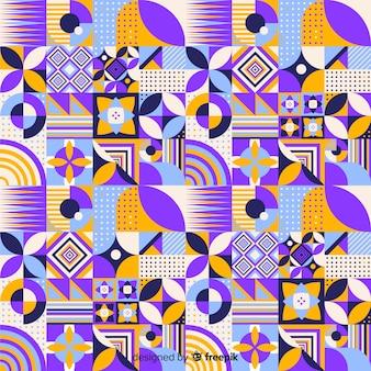 Fondo de losa geométrica colorida de mosáico