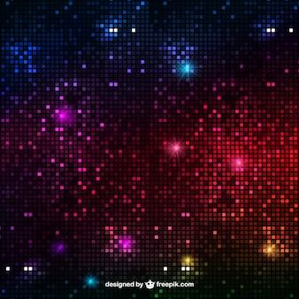 Fondo de luces abstractas disco