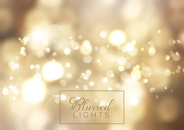 Fondo de luces bokeh dorado