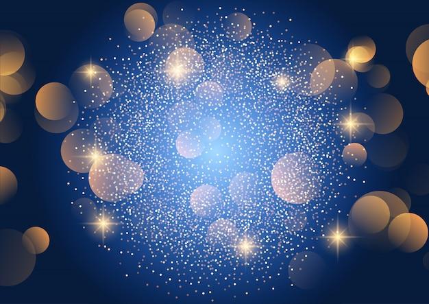 Fondo de luces bokeh de navidad
