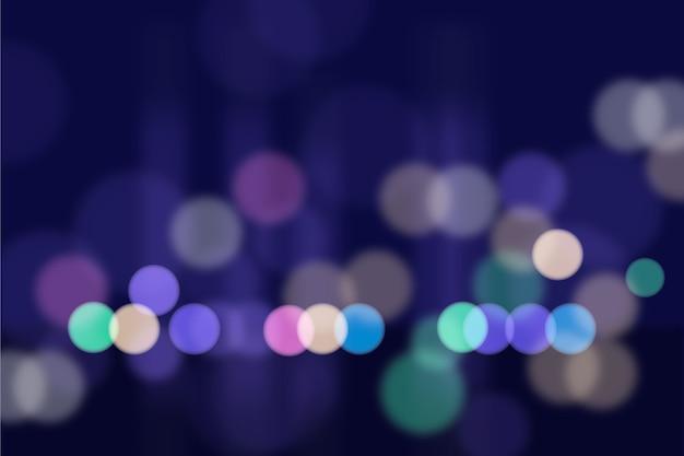 Fondo de luces brillantes de bokeh