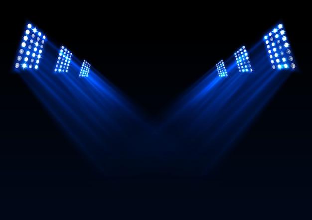 Fondo de luces de escenario azul