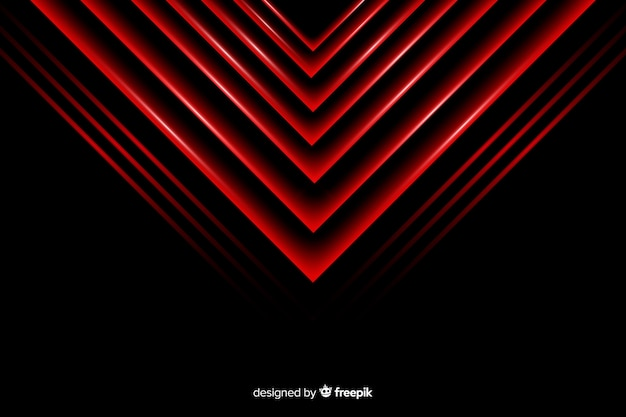 Fondo de luces geométricas triángulo rojo