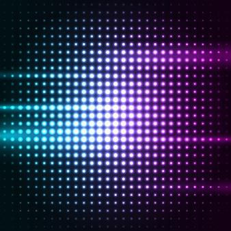 Fondo de luces led de puntos coloridos abstractos