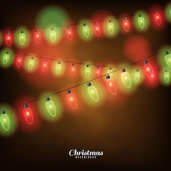 Fondo con luces navideñas
