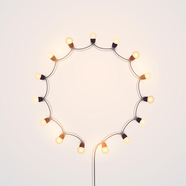Fondo de luces navideñas.