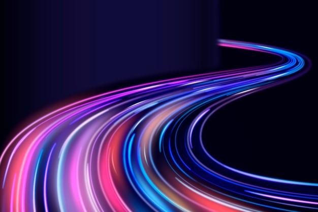 Fondo de luces de neón de diseño abstracto