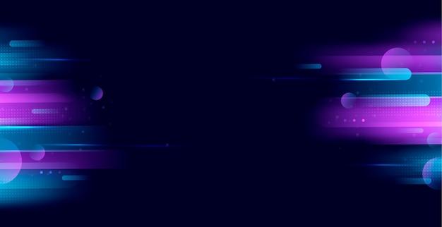 Fondo de luces de neón realista