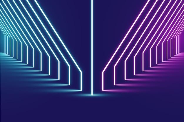 Fondo de luces de neón rosa y azul