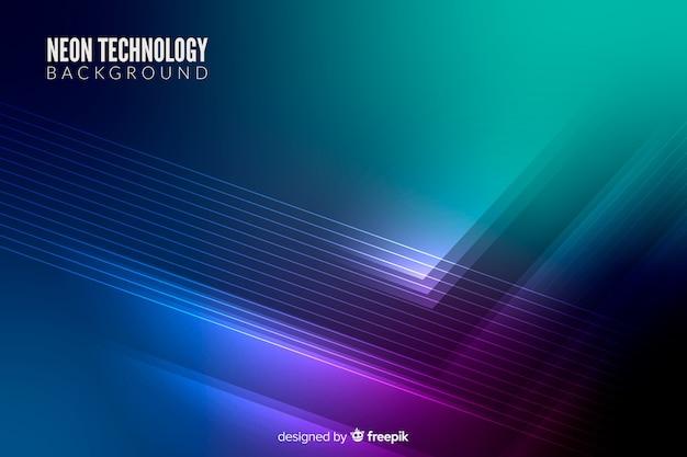 Fondo luces neón tecnológicas