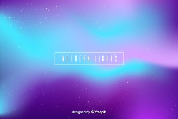 Fondo de luces del norte en púrpura