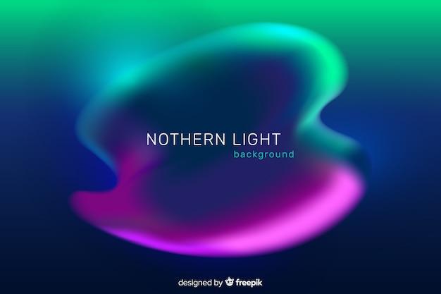 Fondo de luces del norte verde y morado
