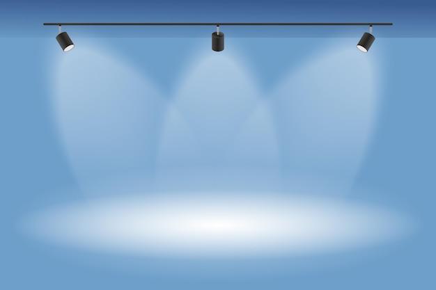 Fondo de luces de punto limpio