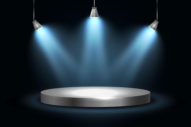 Fondo de luces de puntos