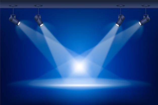 Fondo de luces puntuales