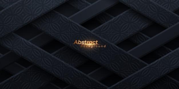 Fondo de lujo 3d con patrón de textura.