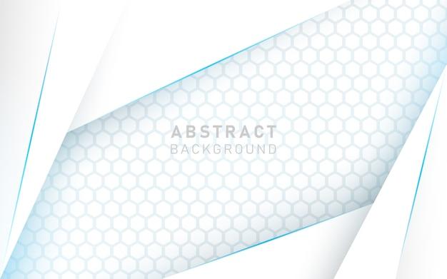 Fondo de lujo abstracto blanco y azul.
