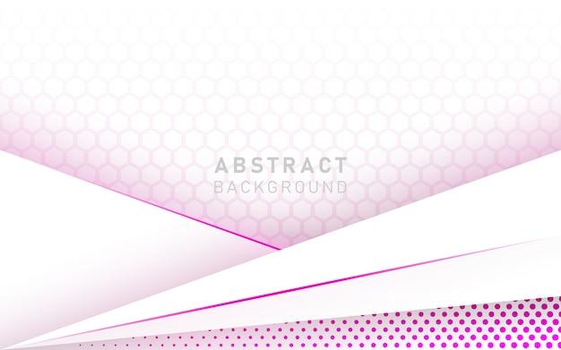Fondo de lujo abstracto blanco y rosa.