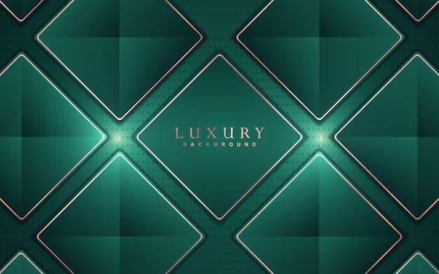 Fondo de lujo abstracto con decoración de elementos de oro verde y rosa