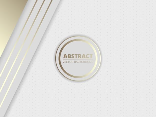 Fondo de lujo abstracto real blanco con un círculo en el medio.