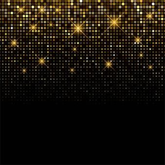 Fondo de lujo brillante fondo de brillos dorados