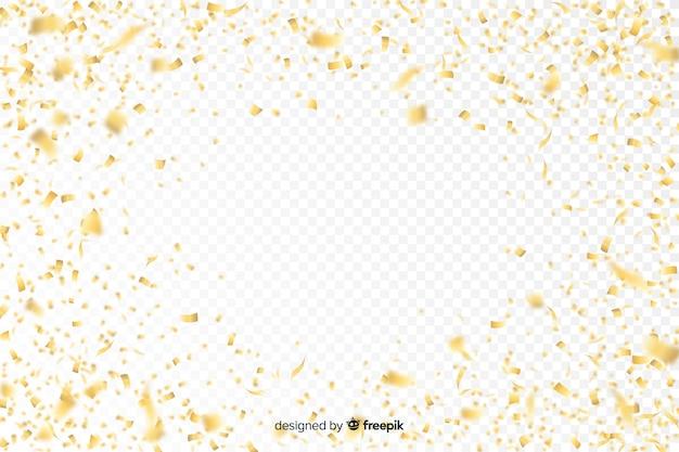 Fondo de lujo con confeti dorado