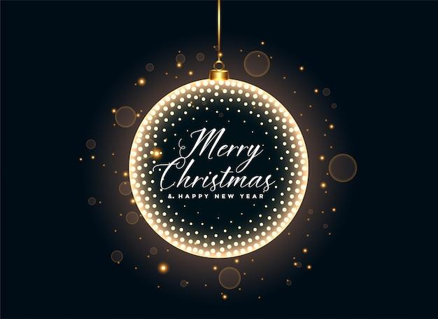 Fondo de lujo de la decoración de las bolas y de las chispas de la navidad.