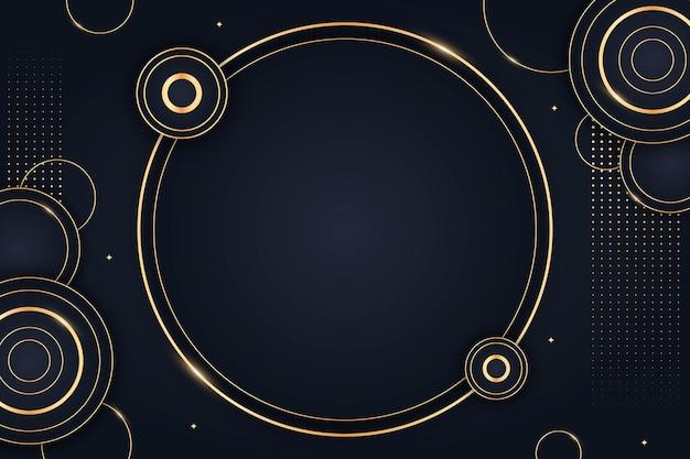 Fondo de lujo dorado degradado con círculos