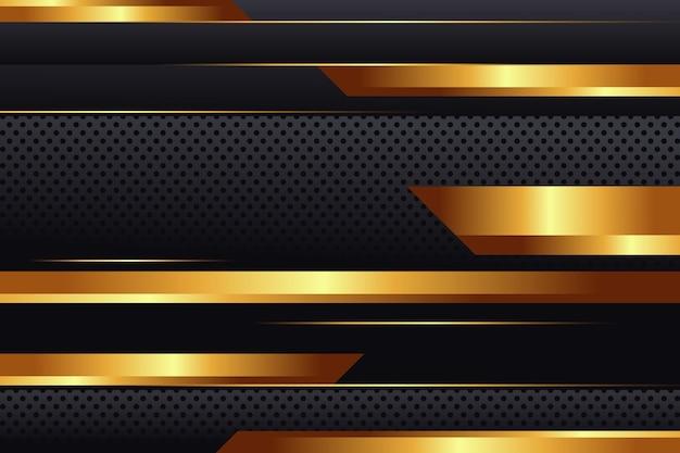 Fondo de lujo dorado realista