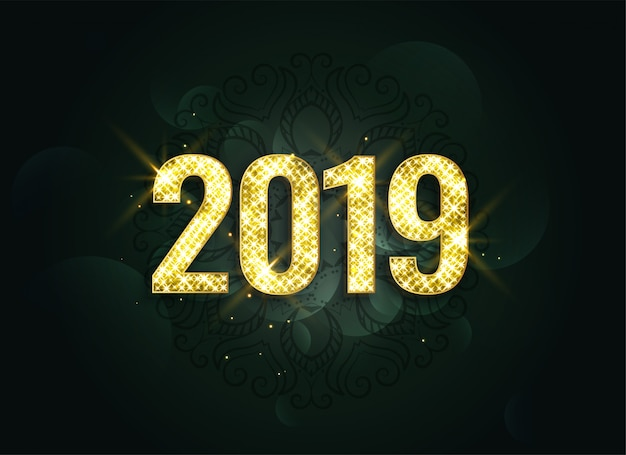 Fondo de lujo estilo 2019 año nuevo destellos
