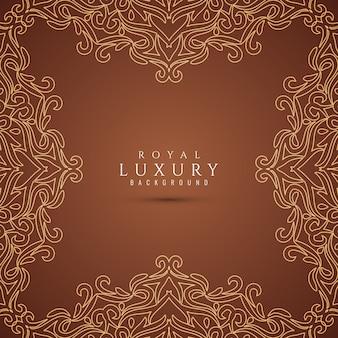 Fondo de lujo con estilo marrón